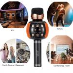 WSTER WS-2911 Karaoke KTV Mic-Portable Bluetooth Hifi Speaker Microphone