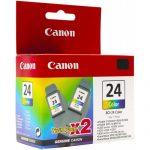 Canon BCI-24 Twin Pack (Cyan, Magenta, Yellow) Cartridge price in bangladesh